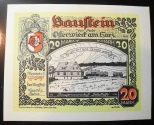 World Coins - German currency printed on leather - Osterwieck, 20 Mark