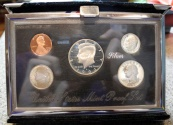 World Coins - US Mint Premier Silver Proof set - 1993, w original packaging and COA