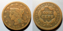 Us Coins - USA Braided Hair Large Cent - 1840