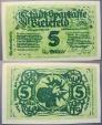 World Coins - scarce! Bielefeld linen notgeld -  5 Gold Pfennig = 5/420 Dollar