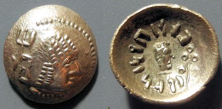 Ancient Coins - Himyarite, 1-2nd century AD, AR 1/2 denarius - high grade!