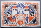 World Coins - German emergency money printed on linen, Bielefeld, 25 Mark