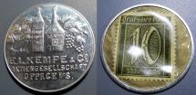 World Coins - German encased postage - EL Kempe & Co Oppach - wine!