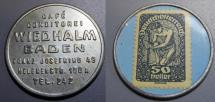 World Coins - Austrian encased postage - 50 heller - Wiedhalm, Baden