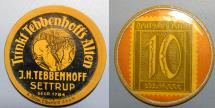 World Coins - German encased postage, JH Tebbenhoff Settrup, 10 pfennig