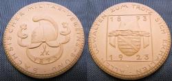 World Coins - German brown porcelain medal - Saxony Militar-Vereins-Bund