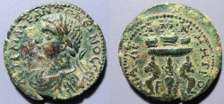 Ancient Coins - Cilicia, Anazarbus - Elagabalus - 218-222 AD - urns & prize table reverse