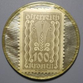 World Coins - Austrian encased postage, Hugo Horwitz, Wien, 100 Kronen