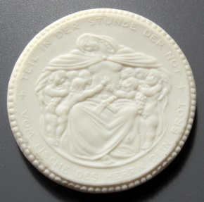 World Coins - German white porcelain coin - Meisen, 1921 - 20 Mark
