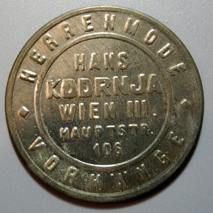 World Coins - Austrian encased postage, post WWI, Hans Wodrjna, Wien - 100 Kronen