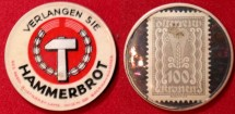 World Coins - Austrian encased postage, Hammerbrot