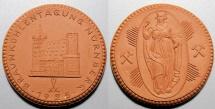 World Coins - 1925 brown porcelain medal - Germany - lignite (brown coal) - Nurnberg