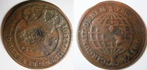 World Coins -  1757 Brazil 80 Reis - Counter Stamped On ( Angola XL Reis Km-9 ) - KM-301