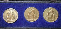 World Coins - German brass inflation medal set - in original case, 1923 / 1924