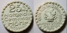 World Coins - German white porcelain coin - Coblenz, Hohr, 25 pfennig