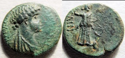 Ancient Coins - Selinus, Ciilicia, AE18, Iotape, wife of Antiochus IV of Commagene, 37-72 AD