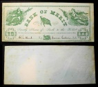 Us Coins - Bank of Merit - banknote for good conduct - 1870s