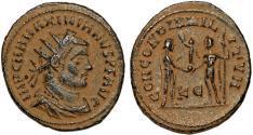 Ancient Coins - Maximianus. First reign, A.D. 286-305. AE post-reform radiate follis. Cyzicus Mint.