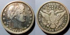 Us Coins - USA - Barber quarter, 1895-P, full LIBERTY visible