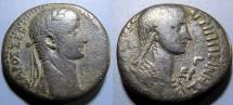 Ancient Coins - Seleucis & Pieria, Antioch, Nero w Agrippina, 54-68 AD, tetradrachm, Year 3