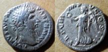 Ancient Coins - Lucius Verus, 161-169 AD, AR denarius = Victory on reverse