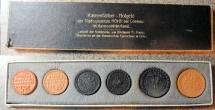 World Coins - Scarce German porcelain coin set - Coblenz, Hohr - 6 piece set, uncirculated