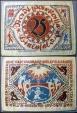 World Coins - German emergency money printed on silk, Bielefeld, 25 Mark