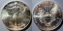 Us Coins - American Silver Eagle - 1995, bright, attractive - US Mint issue silver coin