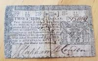 Us Coins - Colonial Currency, 1770 Maryland, 2/3 dollar - sewn