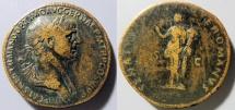 Ancient Coins - Trajan, 98-117 AD, AE Sestertius - Felicitas standing - attractive brown