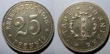 World Coins - German metal noteld - Rheine - Iron 1918 (Funck 447.1) 25 Pfennig