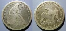 Us Coins - USA - Seated Liberty Dollar, 1846-O - attractive