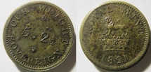 "curious - 1821 - Royal Mint - ""Cur Weight"" - sovereign weight"