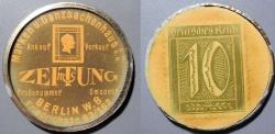 World Coins - German encased postage - Berlin Zeitung, 10 pfennig