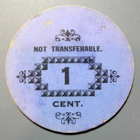 US Coins - T.D. Hudgins Good For 1 Cent, Port Haywood, VA