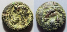 Ancient Coins - Sicily, Gela - 4th century BC - Demeter / river god Gelas