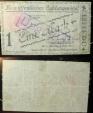 World Coins - German emergency money printed on linen - POW camp - 1 mark - Hann Munden