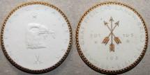 World Coins - German white & gilded porcelain medal - Dresden 1922
