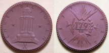 World Coins - German brown porcelain medal - WWI remembrance - 179th, 1922