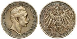 World Coins - GERMANY. Prussia, 1898-A 5 Mark silver coin