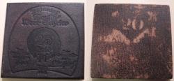World Coins - Extremely scarce German leather emergency money - notgeld - shoe heel leather, 25 gold pfennig