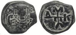 Ancient Coins - Byzantine bronze, Manuel I Comnenus, 1143-1180 AD - half tetarteron