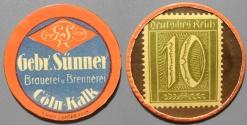 World Coins - German encased postage - 10 pfennig - Gebr Sunner, Brauerei und Brennerei