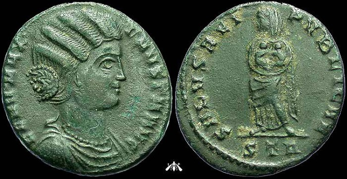 Ancient Coins - Fausta, Wife of Constantine I, AE3 Trier Mint, VF+ Portrait
