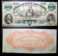 Obsolete currency - Citizens' Bank of Louisiana, Shreveport - 5 dollars