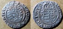 World Coins - Medieval Hungarian silver dnear, 1610 Mathias II