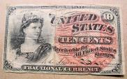 Us Coins - 10 cent Fractiional Currency, 1869-1875 4th issue, Act of March 3, 1863