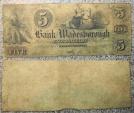 Us Coins - heavily circulated North Carolina obsolete currency - Wadesborough - $5