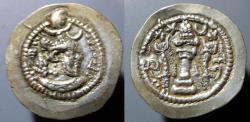 Ancient Coins - Sassanian AR drachm, Peroz, 457-484 AD - attractive