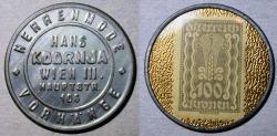World Coins - AUSTRIAN ENCASED POSTAGE, HANS KODRNJA WIEN - 100 kronen